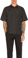 Robert Geller Over Dyed Stripe Shirt