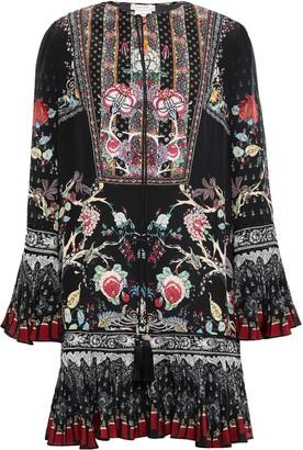 Camilla Embellished Printed Silk Crepe De Chine Mini Dress
