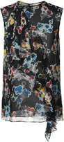 Jason Wu sheer floral sleeveless ruffle top