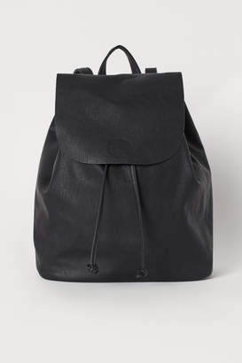 H&M Backpack with Flap - Black