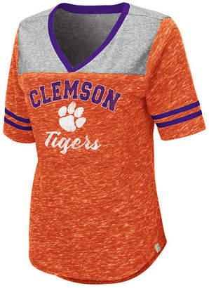 Colosseum Women Clemson Tigers Mr Big V-neck T-Shirt