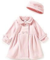Edgehill Collection Baby Girls 12-24 Months Floral-Applique Double-Breasted Jacket