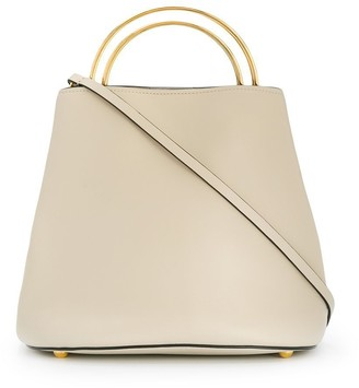 Marni metallic handle tote
