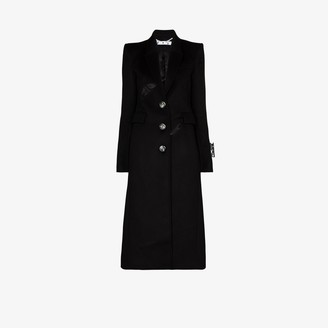 Off-White Cutout Tailored Button-Down Coat