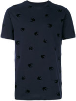 McQ by Alexander McQueen swallow print T-shirt - men - Cotton - S
