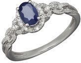 Fine Jewellery 14K White Gold Sapphire and Diamond Ring