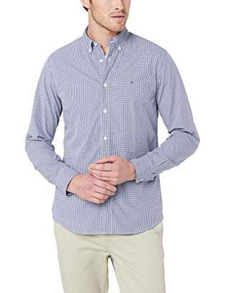 Tommy Hilfiger Men's Core Check Shirt Casual, Multicoloured (Peacoat/Bright White 902)