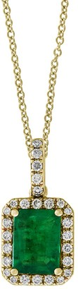 Effy Brasilica 14K Yellow Gold, Natural Emerald Diamond Pendant Necklace
