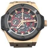 Hublot 716.OM.1129.RX.MAN11 Big Bang King Power Red Devil Manchester United Chrono Limited Rose Gold Skeleton Dial 48mm Watch