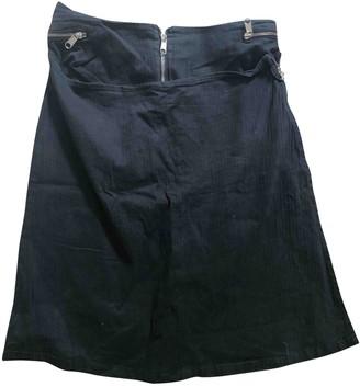 Maison Margiela Grey Cotton Skirt for Women Vintage