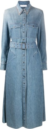 Chloé Flared Denim Shirt Dress