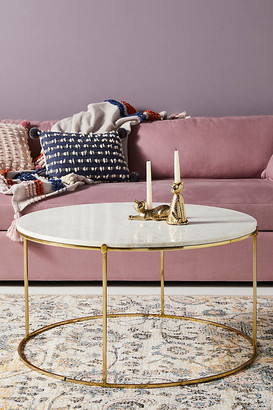 Anthropologie Leavenworth Marble Coffee Table By in Gold Size M