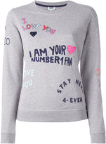 Kenzo slogan print sweatshirt - women - Cotton - XL