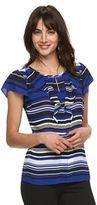 Elle Women's ELLETM Print Ruffle Top