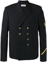 Saint Laurent double breasted military jacket - men - Wool - 48