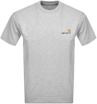 Carhartt Script Short Sleeved T Shirt Grey