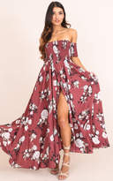 Showpo Classy Sassy maxi dress in dark rose floral