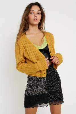 Urban Outfitters Creme Cindy Crop Cardigan - white S at
