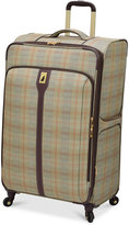 """London Fog Knightsbridge 29"""" Expandable Spinner Suitcase, Available in Brown and Grey Glen Plaid, Macy's Exclusive Colors"""