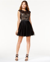 Say Yes to the Dress Juniors' Open-Back Sequined Dress, A Macy's Exclusive