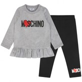 Moschino Girls Grey Tops & Leggings Set