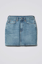Thumbnail for your product : Weekday Wend Marble Blue Denim Skirt - Blue