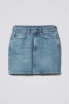 Weekday Wend Marble Blue Denim Skirt - Blue