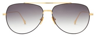 Dita Flight.004 Titanium Aviator Sunglasses - Yellow