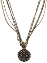Giles & Brother Crystal Shell Pendant Necklace