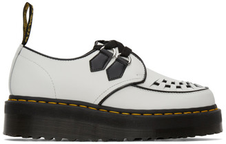 Dr. Martens White Sidney Quad Creepers