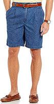 Roundtree & Yorke Double Pleat Side Elastic Waistband Denim Shorts