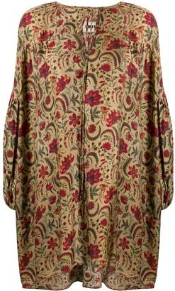 UMA WANG Floral Print Oversized Tunic