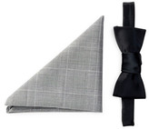 Original Penguin Sateen Solid Bow Tie & Pocket Square Set