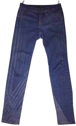 Chanel Blue Cotton - elasthane Jeans for Women