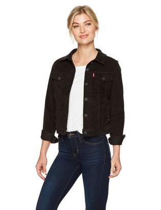 Levi's Women's Original Trucker Jacket Soft Ultra Black Small