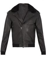 Acne Studios Avone Shearling-trimmed Leather Biker Jacket