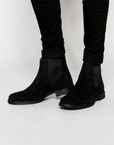 Jack & Jones Suede Chelsea Boots - Black