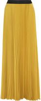 Enza Costa Pleated chiffon maxi skirt