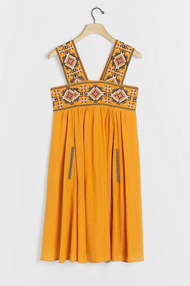 Teofila Embroidered Swing Dress
