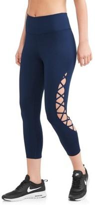 Avia Women's Active Lattice Ankle Performance Capri Legging