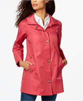 Jones New York Turnkey Hooded Raincoat