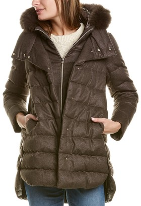 Herno Quilted Cashmere & Silk-Blend Coat