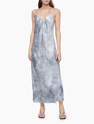 Calvin Klein Printed Sleeveless Long Slip Dress