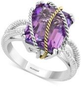 Effy Amethyst Statement Ring (5-1/2 ct. t.w.) in Sterling Silver & 18k Gold