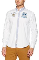 La Martina Men's Long Sleeve Oxford Stretch Casual Shirt
