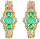 Diana M Fine Jewelry 14K 0.61 Ct. Tw. Diamond & Emerald Earrings