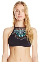 Nanette Lepore Women's Mantra Embroidery Stargazer Bikini Top