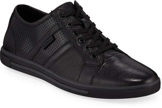 Kenneth Cole Initial Perforated Leather Sneakers