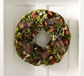 Pottery Barn Preserved Golden Woodlands Wreath