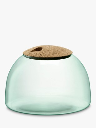 LSA International Canopy Recycled Glass Terrarium with Cork Lid